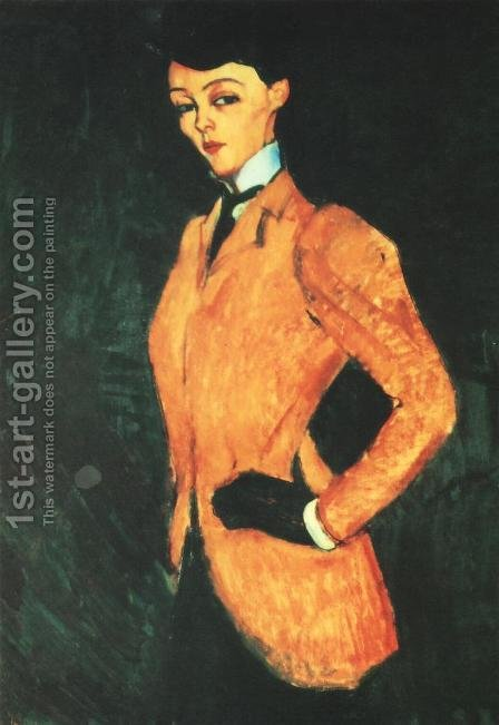 Equestrienne (L'Amazone) by Amedeo Modigliani - Reproduction Oil Painting