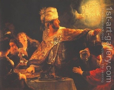 Belshazzar's Feast by Harmenszoon van Rijn Rembrandt - Reproduction Oil Painting