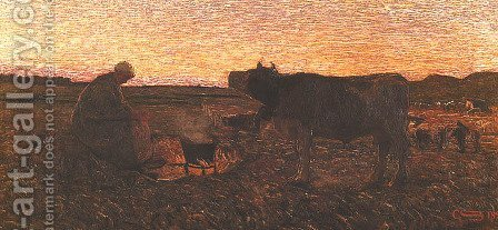 Sad Hour (L'ora mesta) by Giovanni Segantini - Reproduction Oil Painting