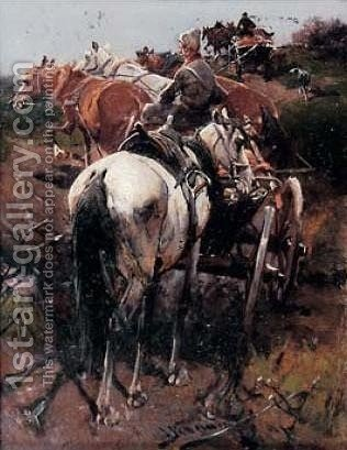 On their Way by J. Konarski - Reproduction Oil Painting