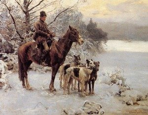 Reproduction oil paintings - Alfred Wierusz-Kowalski - Hunter