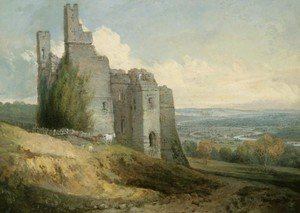 Reproduction oil paintings - Turner - View of Harewood Castle from the SouthEast