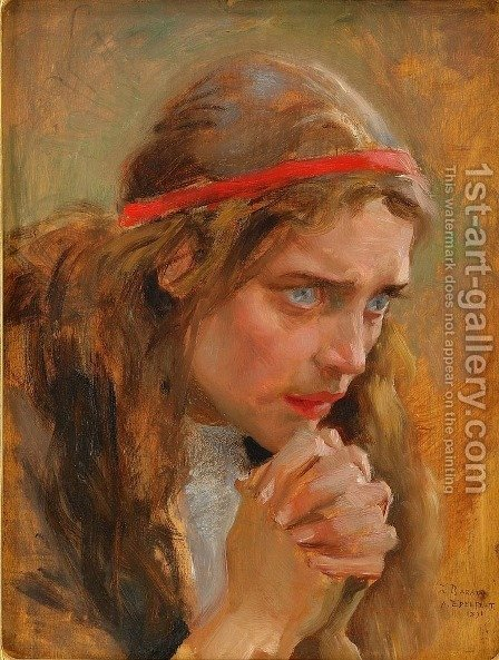 Magdalena by Albert Edelfelt - Reproduction Oil Painting