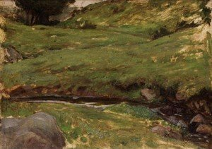Reproduction oil paintings - Waterhouse - Welsh Stream