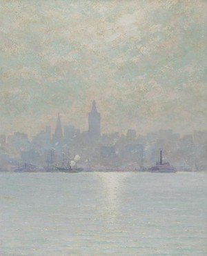 Reproduction oil paintings - William Lippincott - Skyscraper of 1894, New York City