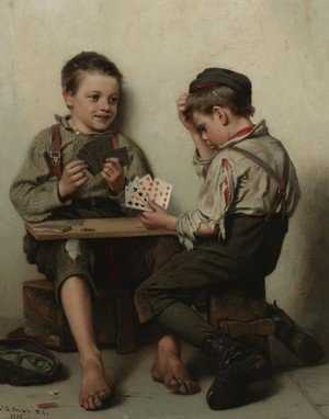 Famous paintings of Card Games: Bluffing