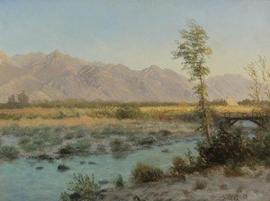 Reproduction oil paintings - Albert Bierstadt - Western Landscape IV