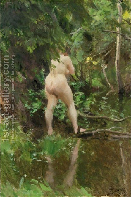 Flood (Oversvamning) by Anders Zorn - Reproduction Oil Painting