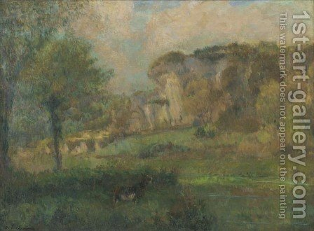 Landscape (Paysage) by Albert Lebourg - Reproduction Oil Painting