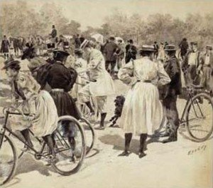 Famous paintings of Bicycling: On the Bicycles (Tout le monde a Bicyclette)