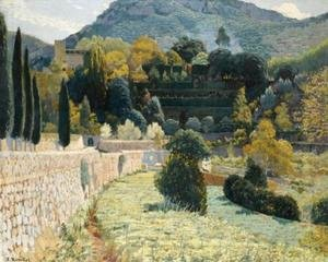 Reproduction oil paintings - Santiago Rusinol i Prats - Jardi de muntanya, Sa Coma, IV (Terraced Gardens, Sa Como)