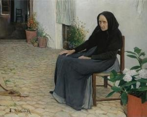 Reproduction oil paintings - Santiago Rusinol i Prats - L'Abia (The Grandmother)
