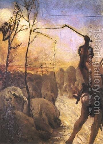 Swineherd by Jacek Malczewski - Reproduction Oil Painting