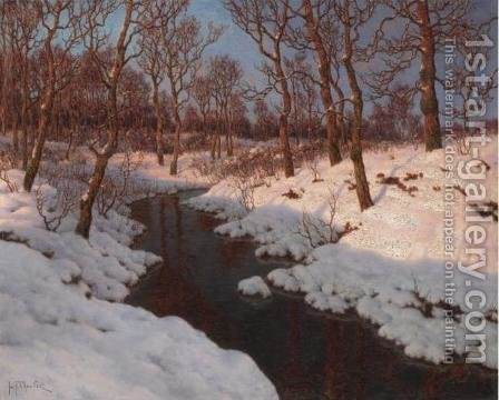 Evening Sun by Ivan Fedorovich Choultse - Reproduction Oil Painting