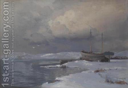 Winter Seascape by Aleksei Vasilievich Hanzen - Reproduction Oil Painting