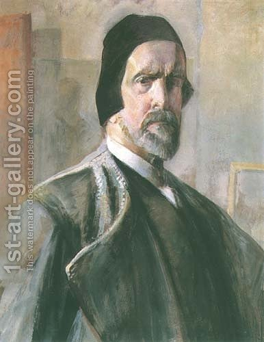 Self-Portrait IV by Jacek Malczewski - Reproduction Oil Painting