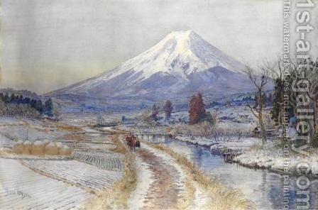 Windy Path at the Foot of Mt. Fuji by Ioki Bunsai (Bun'ya) - Reproduction Oil Painting