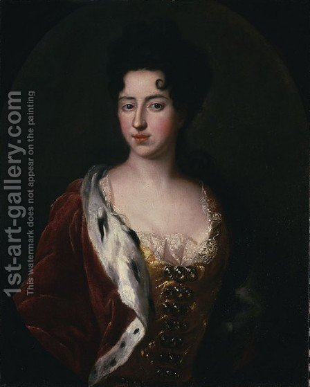 Portrait of Queen Catherine Leszczynska nee Opalinska by - Unknown Painter - Reproduction Oil Painting
