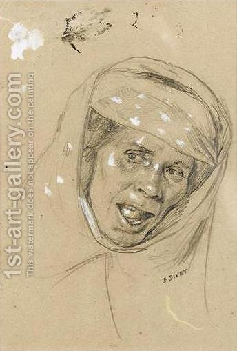 Study for Algerian Woman (Etude de femme algerienne) by Alphonse Etienne Dinet - Reproduction Oil Painting