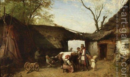 Farm by Aleksander Kotsis - Reproduction Oil Painting