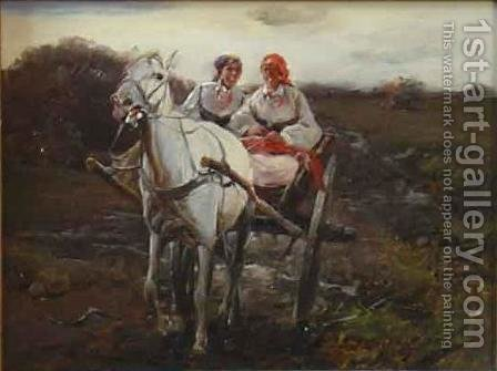 Ride by J. Konarski - Reproduction Oil Painting