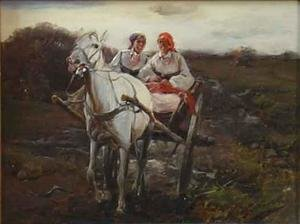 Reproduction oil paintings - J. Konarski - Ride