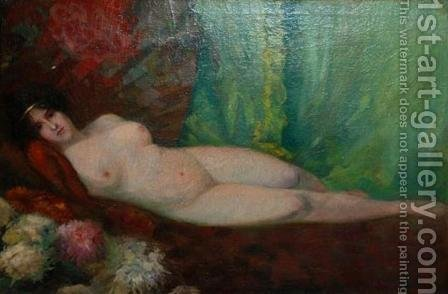 Reclining Nude by Adam Pelczynski - Reproduction Oil Painting