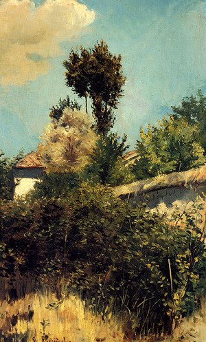 Reproduction oil paintings - Santiago Rusinol i Prats - The Garden Wall