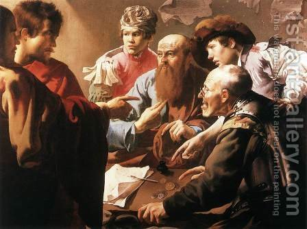 The Calling of St Matthew by Hendrick Terbrugghen - Reproduction Oil Painting