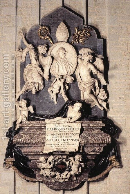 Memorial of Bishop Marius Ambrose Capello by Hendrick Frans Verbruggen - Reproduction Oil Painting