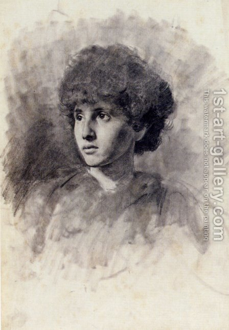 Portrait Of The Artist's Daughter Maud by Adolf Hiremy-Hirschl - Reproduction Oil Painting
