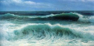Famous paintings of Clouds & Skyscapes: Breaking Waves I