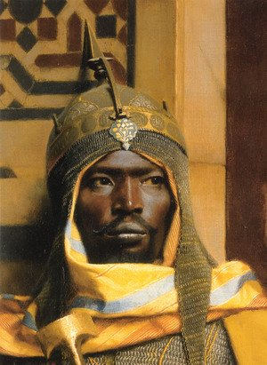Famous paintings of Black Art: The Palace Guard - detail