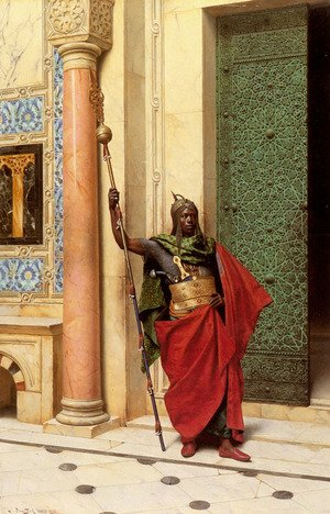 Famous paintings of Doorways & Gates: A Nubian Guard