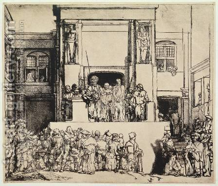Christ Presented to the People by Harmenszoon van Rijn Rembrandt - Reproduction Oil Painting