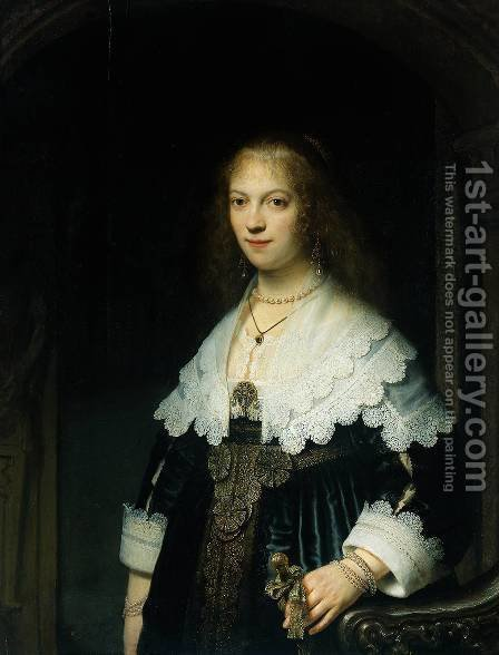 Portrait of Maria Trip (1619-1683) by Harmenszoon van Rijn Rembrandt - Reproduction Oil Painting
