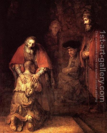The Return of the Prodigal Son by Harmenszoon van Rijn Rembrandt - Reproduction Oil Painting