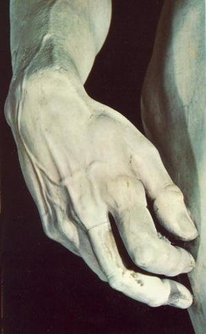 Reproduction oil paintings - Michelangelo - David [detail] I
