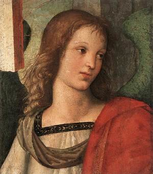 Reproduction oil paintings - Raphael - Angel (fragment of the Baronci Altarpiece)