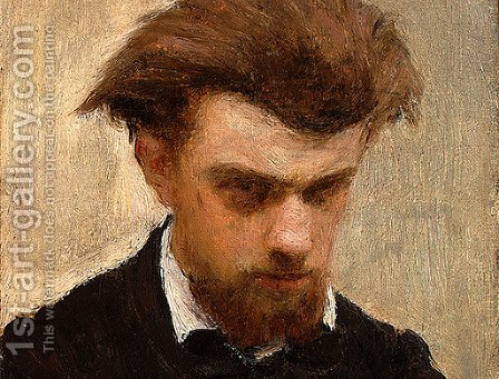Self-Portrait [detail: 2] by Ignace Henri Jean Fantin-Latour - Reproduction Oil Painting