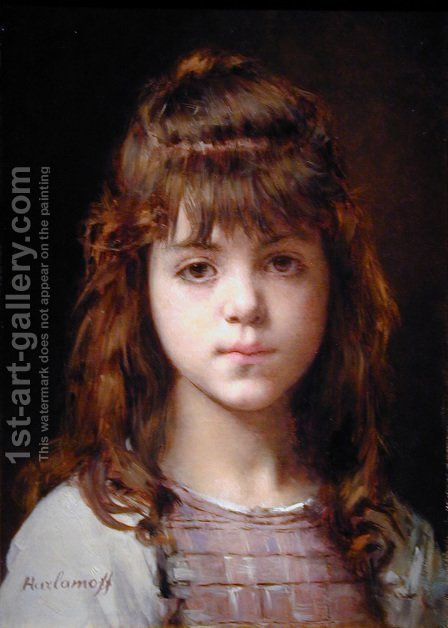 Mignon I by Alexei Alexeivich Harlamoff - Reproduction Oil Painting
