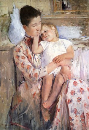 Reproduction oil paintings - Mary Cassatt - Mother And Child XI