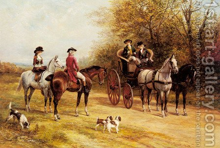 A Chat with His Lordship by Heywood Hardy - Reproduction Oil Painting