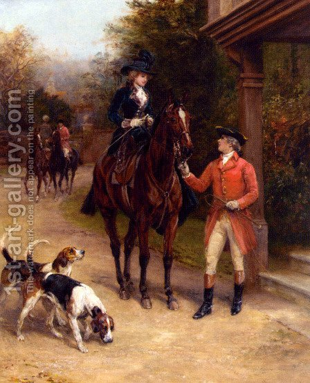 A Hunting Morn by Heywood Hardy - Reproduction Oil Painting