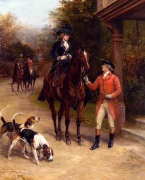 Famous paintings of Horses & Horse Riding: A Hunting Morn