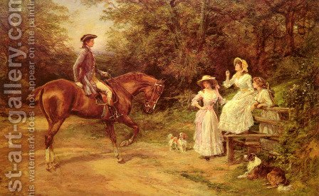 A Meeting By The Stile by Heywood Hardy - Reproduction Oil Painting