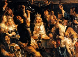 Famous paintings of Taverns: The King Drinks I