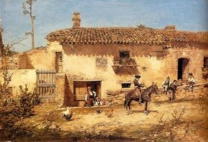 Famous paintings of Spain: A Spanish Farm