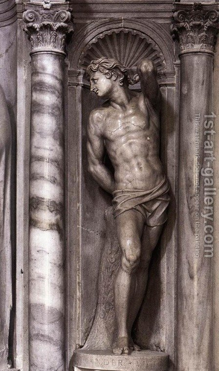 St Sebastian by Alessandro Vittoria - Reproduction Oil Painting