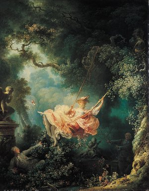 Reproduction oil paintings - Jean-Honore Fragonard - The Swing II